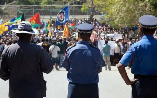 PNG protest