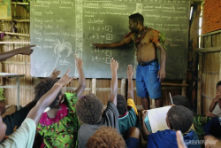 PNG school (Greenpeace)