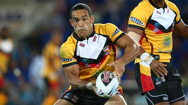 Paul Aiton in action for Papua New Guinea (Fox Sports)