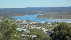 Noosa River & hinterland looking from Noosa Hill