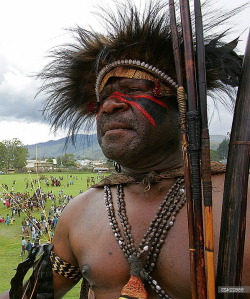 Lufa Lekena warrior from Hella village