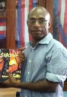 Emmanuel Peni & his book  Sibona