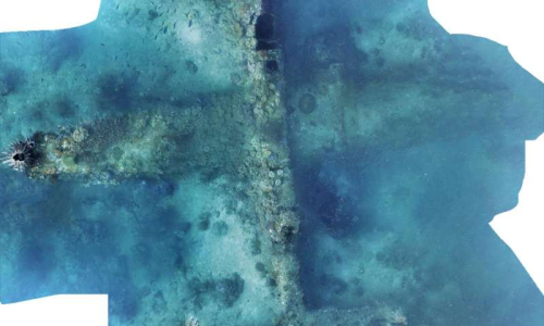 Underwater wreck of a WWII B-25 bomber (Project Recover)