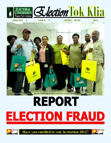 Report election fraud
