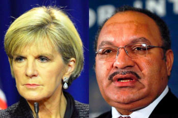 Foreign Minister Julie Bishop and Papua New Guinea prime minister Peter O'Neill (ABC)