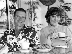 Bruce Laming & wife Estelle after a successful early political campaign