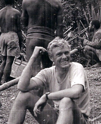 Phil on patrol in the Star Mountains  early 1970s