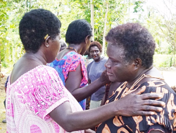 My mother Therese Pokamari and aunty Rositha Kabui reconcile