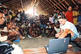 Dr Barry Craig in the field in PNG