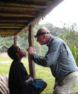 Barry Reed at work in PNG