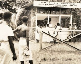 Westpac at the Lae market, 1958
