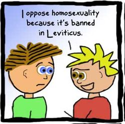 Leviticus says....