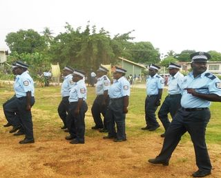 Bougainville police on parade