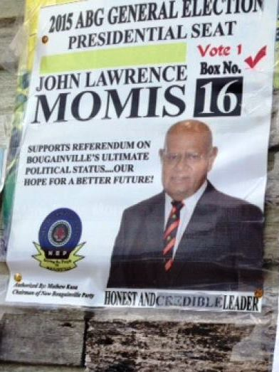 Momis election poster