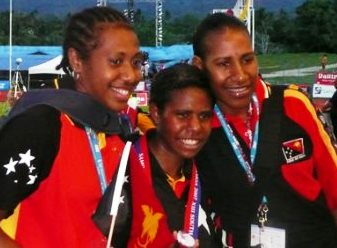 PNG athletes in Samoa, 2007
