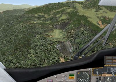 On approach Bundi airstrip (Smokey Joe)