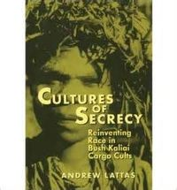Cultures of Secrecy