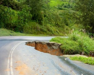 Landslips are common
