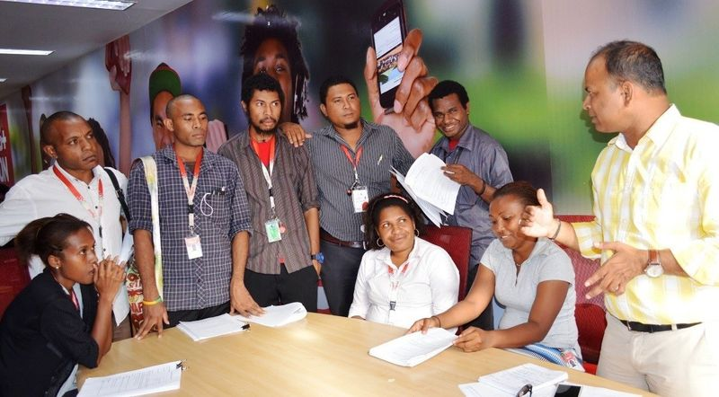 Training for the phone survey (Digicel)