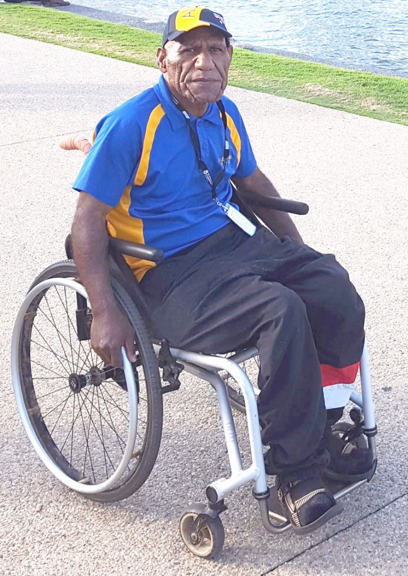 Disabled author Francis Nii