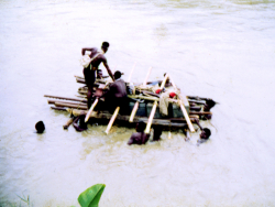 Photo 5 - Crossing the flooded Bongos River