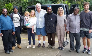 Some of our hosts - Jack, Jimmy Drekore, Jimmy Awagl & Philip with the family