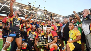PNG Hunters celebrate their finals win