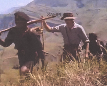 Jim Sinclair on patrol (still from 'New Guinea Patrol')