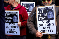 Dutton protest
