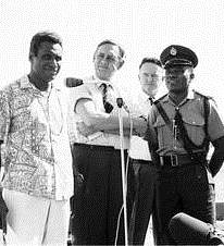 John Gorton at Rabaul airport