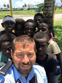 Sgt Craig Thorne and Bougainville kids