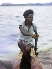 Interpreter Randolph at Tufi  c 1970