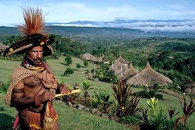 A Huli man at Ambua in the Southern Highlands