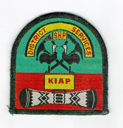 Kiap badge circa 1988