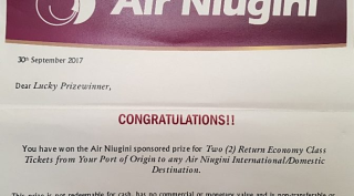 Air-Niugini-Prize