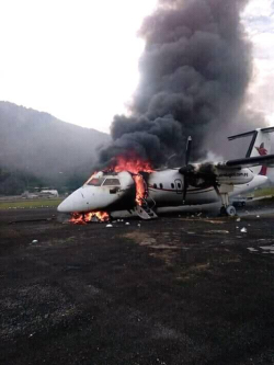 Dash 8 on fire