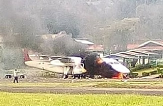 Dash 8 torched at Mendi