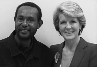 Martyn Namorong & Julie Bishop