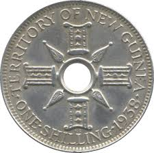 Holey shilling  TPNG 1938