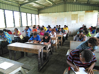 Classroom in PNG