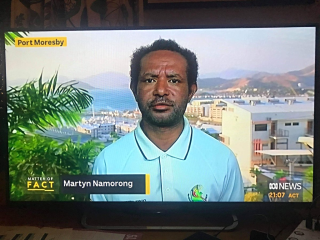 Martyn Namorong on ABC TV
