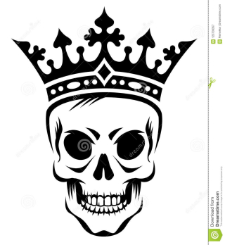 Skull-crown-angry-king