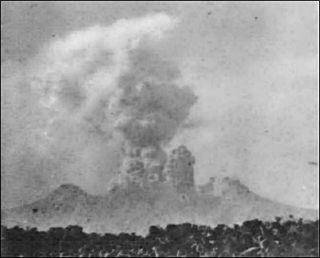 Mt Lamington explodes  5 February 1951