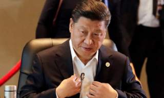 Xi Jinping at the APEC summit in Port Moresby (Mark R Cristino EPA)