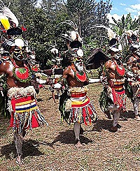 Traditional dancers from Bonga Lower Kaguel