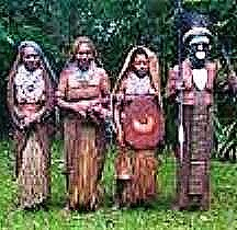 Tribal chief with wives