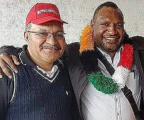 O'Neill and Marape (PNG PM Media Office)