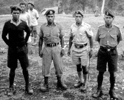 PNG police 1970s (Paul Oates)