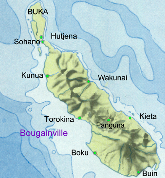 Brown map Bougainville