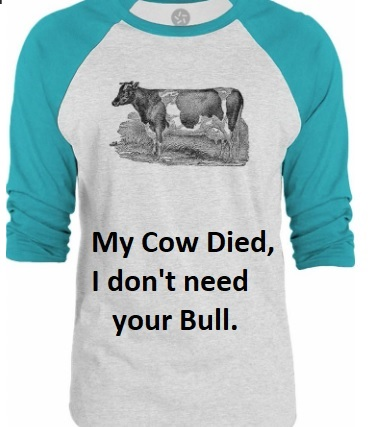 My cow died